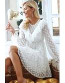 Daria Transparent White Skater Dress