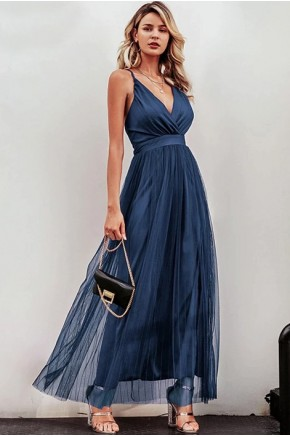 Celeste Evening Dress in Blue