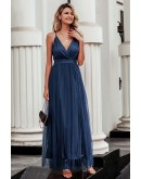 Celeste Evening Dress in Blue