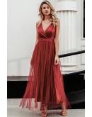 Celeste Evening Dress in Red