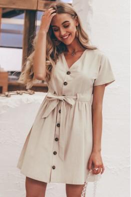 Erin Casual Button Dress