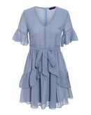 Lille Swiss-Dot Dress in Blue