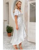 Ella Wrap Midaxi Dress in White