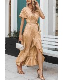 Ella Midaxi Dress in Champagne