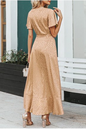 Ella Midaxi Dress in Champagne
