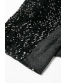 Tiffany Sequined Black Dress