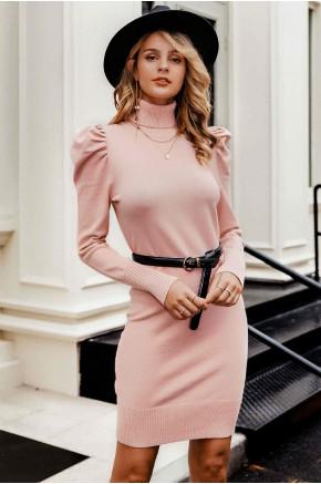 Ozera Puff Sleeve Knit Dress