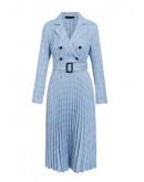 Haylee Blazer Blue Dress in Plaid
