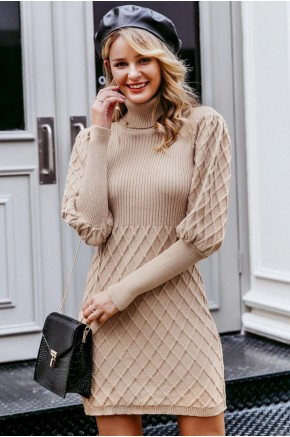 Patricia Jumper Dress in Beige
