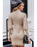 Patricia Jumper Dress in Beige