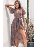 Nikki Midaxi Dress in Burgundy