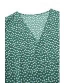 Nikki Wrap Midaxi Dress in Green