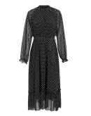 Luna Sheer Chiffon Dress in Black
