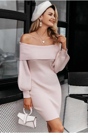 Yanira Off Shoulder Knit Dress