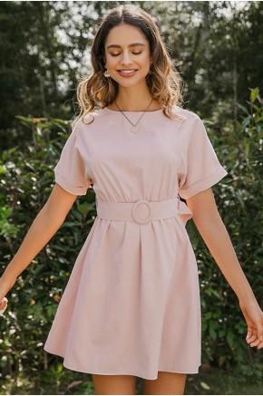 Renee Belted Sweet Rose Dress