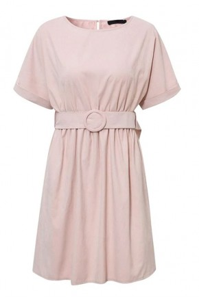 Renee Belted Sweet Rose Dress