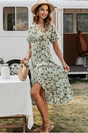 Adara Floral Wrap Dress