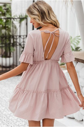 Kailynn Fit Flare Dress in Rose