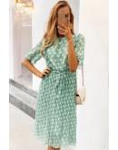 Elise Sheer Dotted Vintage Dress