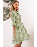 Marseille Floral Dress in Green
