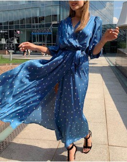 Ainley Maxi Dress in Blue