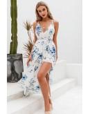 Karen Backless Maxi Floral Dress