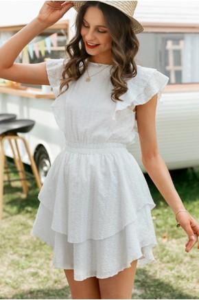 Ibiza White Crochet Dress