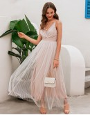 Riviera Long Flared Gown Dress