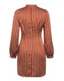 Farrah Polka Dot Drape Dress