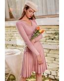 Nora Pleated Knit Dress
