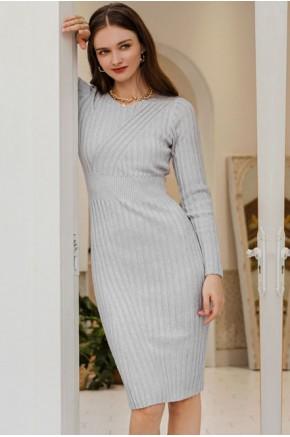 Yara Midi Dress in Grey