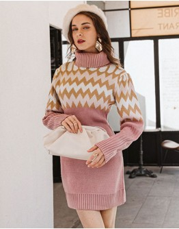 Nara Jumper Dress in Pink
