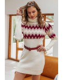 Nara Puff Sleeve Jumper Dress