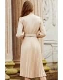 Barbara Pleated Midi Dress