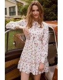 Adell Tie-Neck Floral Dress