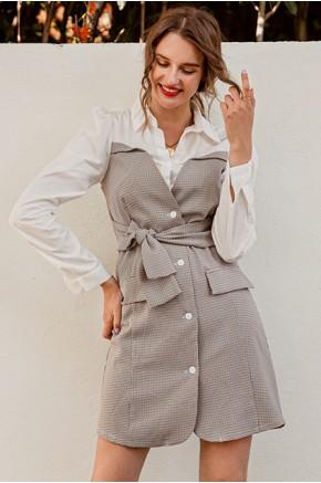 Adrielle Plaid Dress