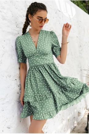 Kelsey Green Skater Dress