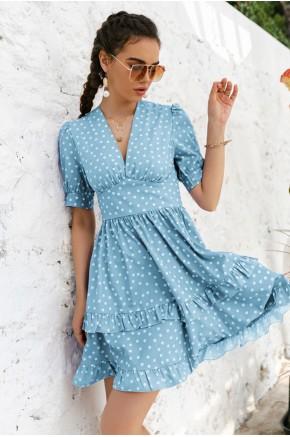 Kelsey Blue Skater Dress