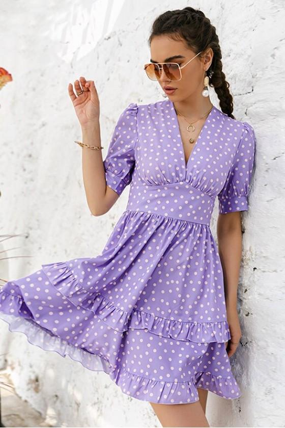 Kelsey Lilac Skater Dress