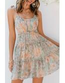 Poppy Layered Ruffle Floral Dress