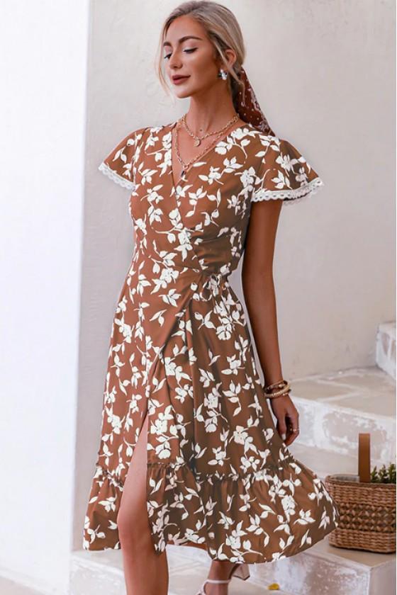 Verena Printed Midi Dress
