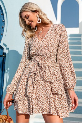 Madison Ruffled Floral Dress