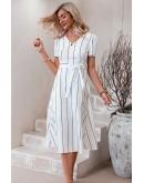 Angelina Striped Midi Dress