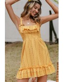 Summer Yellow Ruffled Dress
