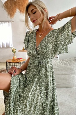 Quintina Floral Midaxi Dress