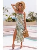 Ocean Side Split Summer Maxi Dress