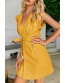 Ladee Yellow Mini Dress