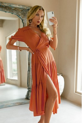 Kahoku Wrap Midaxi Beach Dress
