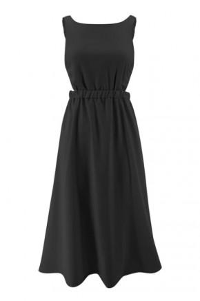 Tahlia Modern Backless Dress in Black