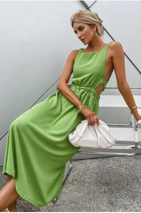 Tahlia Modern Backless Dress in Green